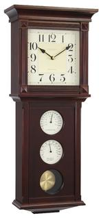 London Clock Company Westminster Thermo / Hygro Pendulum Wall Clock