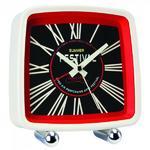 London Clock Company Festival Retro Cream Red & Black Alarm Clock