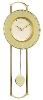 London Clock Company Gold Finish Contemporary Pendulum Wall Clock