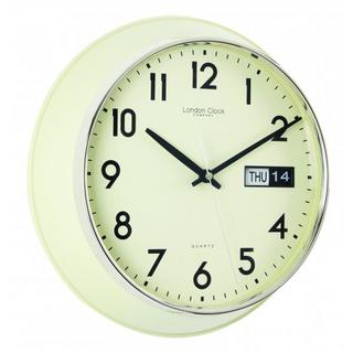 Cream Day Date Station Clock Thumbnail 1