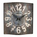 HOMETIME SQUARE UNDULATING METAL EFFECT ROMAN DIAL LARGE WALL CLOCK