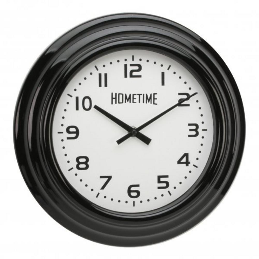 Hometime Black Case Arabic Dial Wall Clock