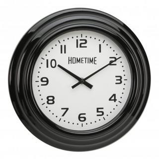 Hometime Black Case Arabic Dial Wall Clock Thumbnail 1