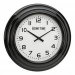 Hometime Black Case Arabic Dial Wall Clock