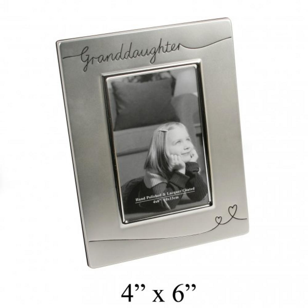 """Juliana Granddaughter Sentiment Silver Plated Picture Photo Frame 6"""" X 4"""""""