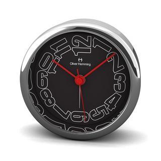Oliver Hemming 8Cm Chrome Alloy Contemporary Desire Silent Side Alarm Clock Thumbnail 1