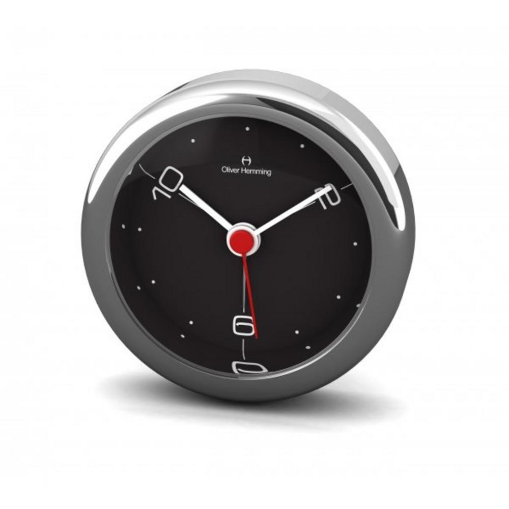 Oliver Hemming 6Cm Chrome Alloy Contemporary Desire Silent 10,2,6 Alarm Clock