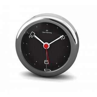 Oliver Hemming 6Cm Chrome Alloy Contemporary Desire Silent 10,2,6 Alarm Clock Thumbnail 1