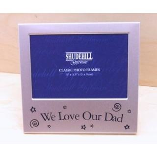 "We Love Our Dad Picture Photo Frame Sentiment 5"" X 3.5"" By Shudehill Giftware Thumbnail 1"