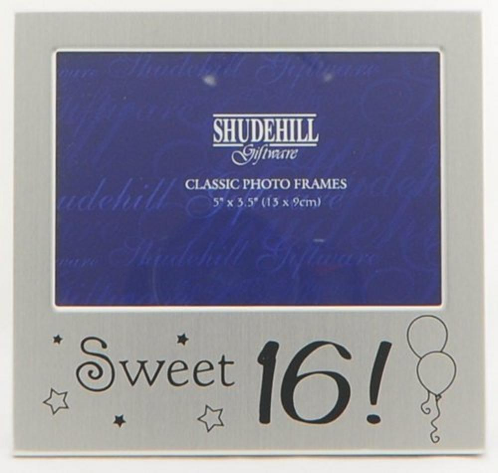 """Shudehill Giftware Sweet Sixteen 16 Birthday Picture Photo Frame 5"""" X 3.5"""""""