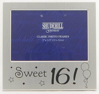 "Shudehill Giftware Sweet Sixteen 16 Birthday Picture Photo Frame 5"" X 3.5"" Thumbnail 1"