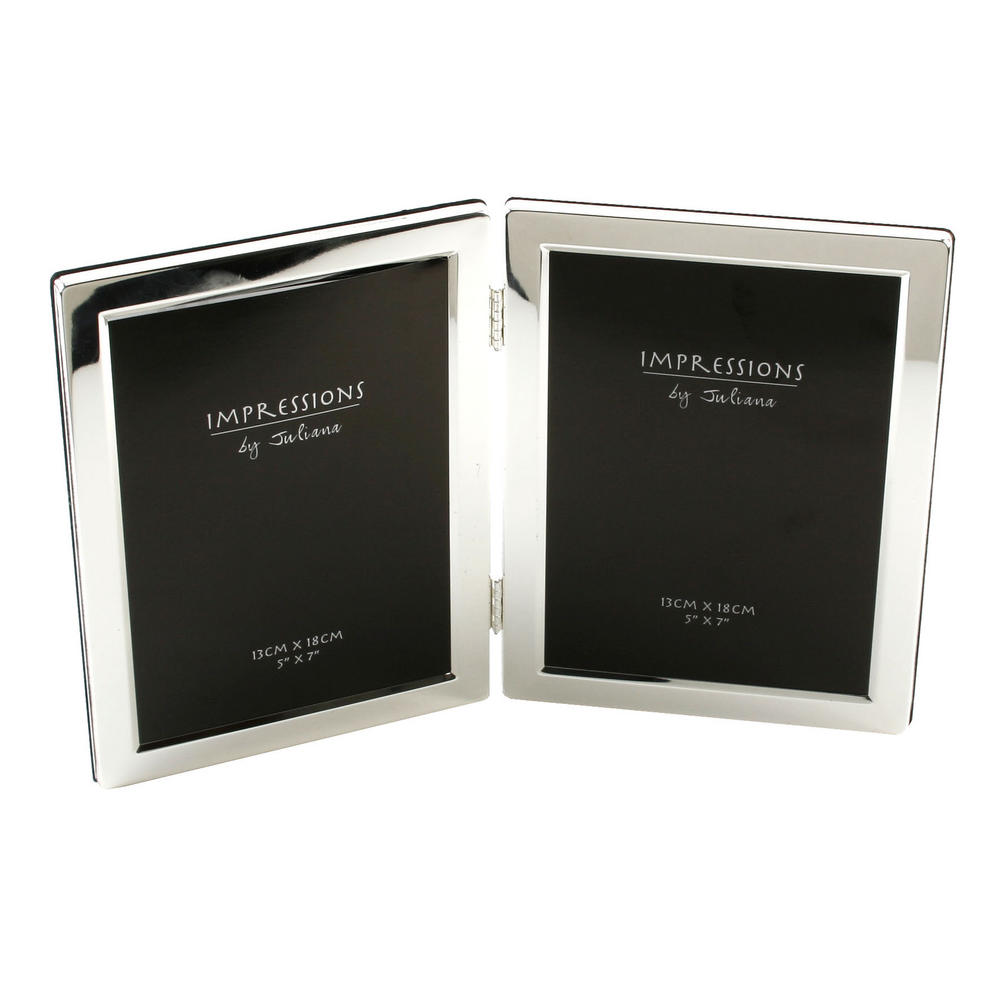 """Juliana Silver Plated Double Sided Gift Picture Photo Frame 5"""" X 7"""""""