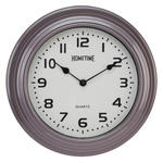 HOMETIME ARABIC DIAL WITH MAUVE MAGENTA CASE MODERN WALL CLOCK - 29CM DIAMETER