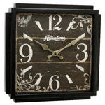 Hometime Aged Brown Shabby Chic Square Wall Clock In Classic French Styling