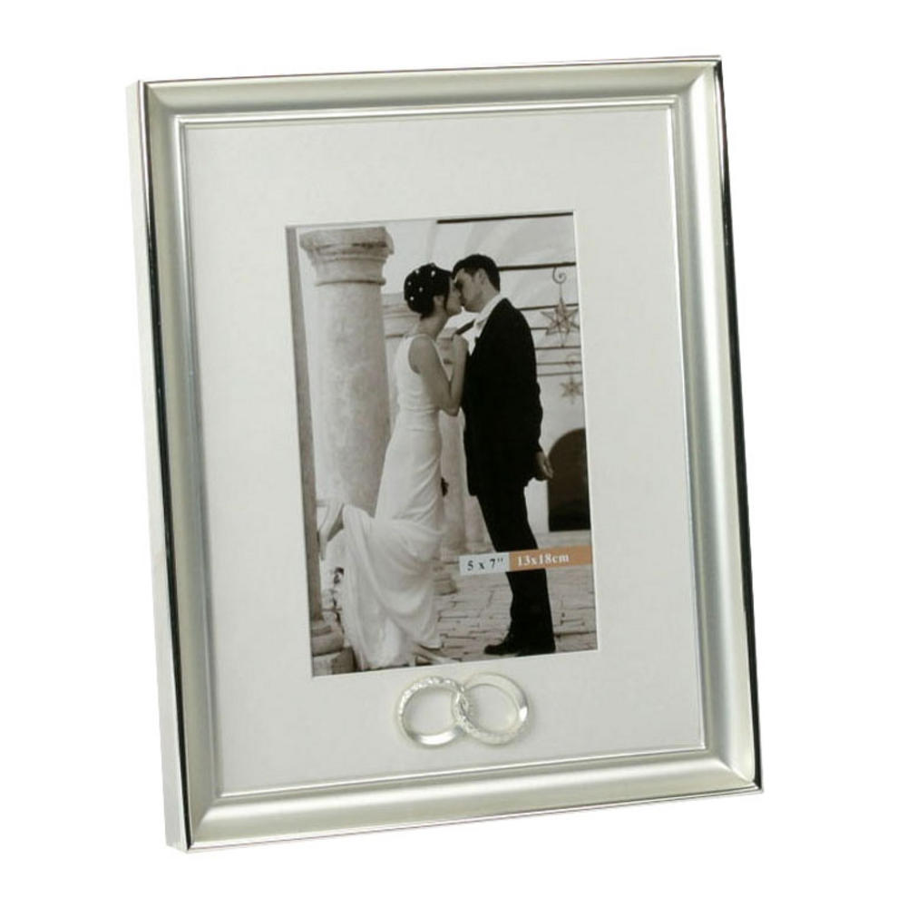 Juliana Silver Plated Wedding Anniversary With Joined Rings Picture Photo Frame