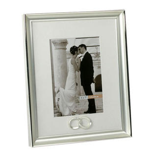 Juliana Silver Plated Wedding Anniversary With Joined Rings Picture Photo Frame Thumbnail 1