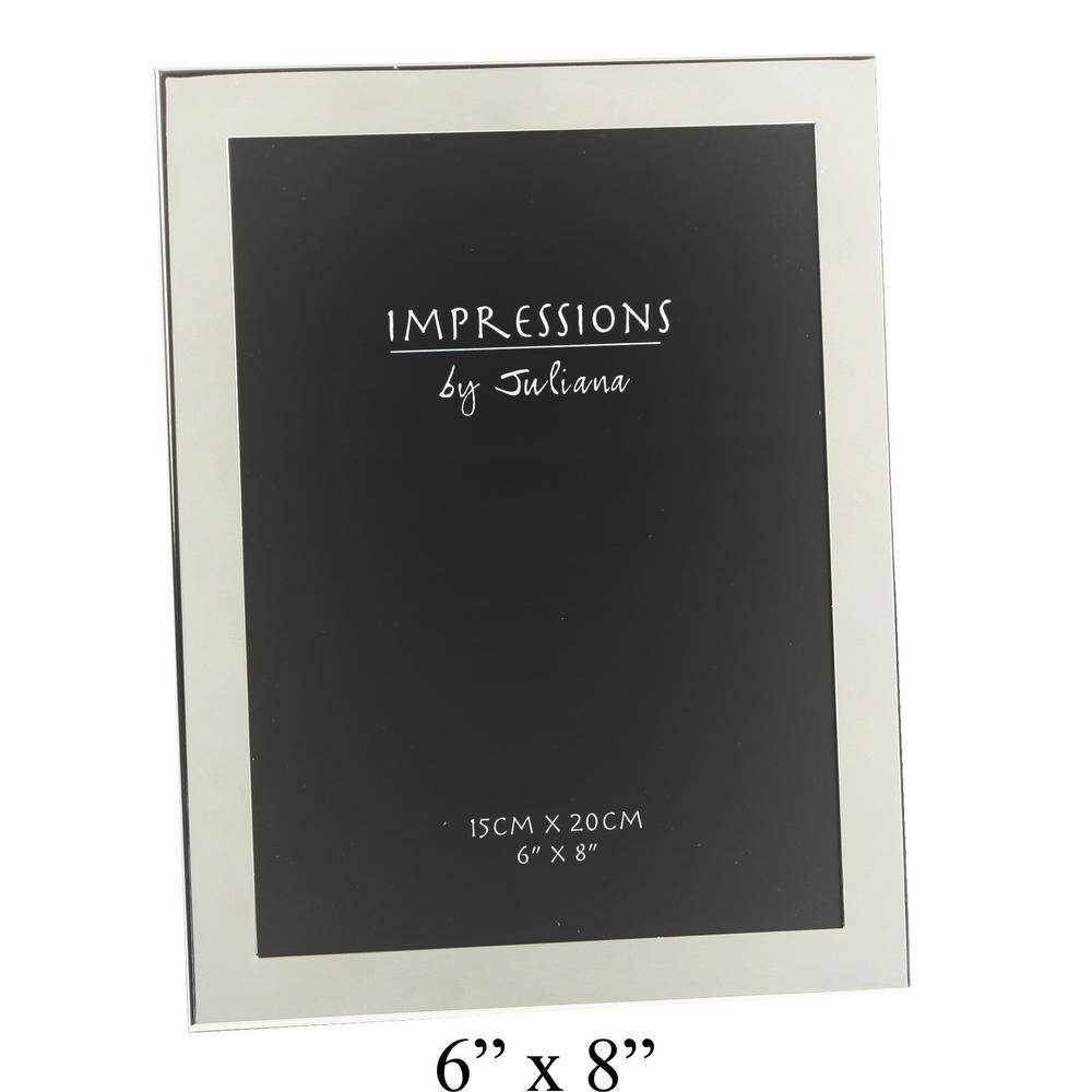 """Juliana Silver Plated Plain Modern Picture Photo Frame 8"""" X 10"""""""