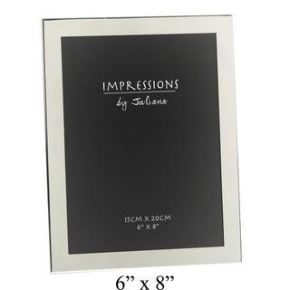 "Juliana Silver Plated Plain Modern Picture Photo Frame 8"" X 10"" Thumbnail 1"