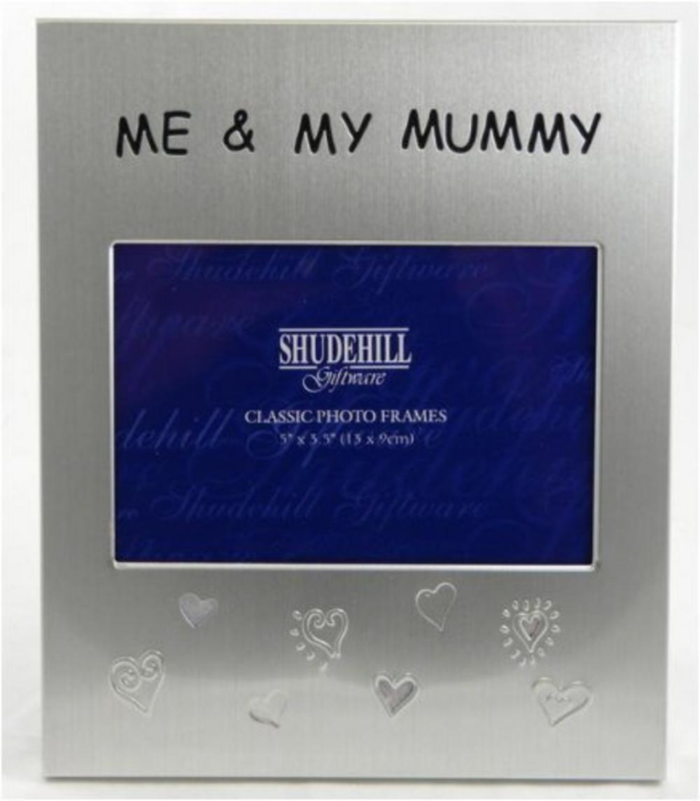 "Shudehill Giftware Silver Me And My Mummy Picture Photo Frame 5"" X 3.5"""