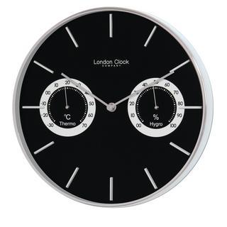 London Clock Company Thermometer & Hygrometer Wall Clock Thumbnail 1