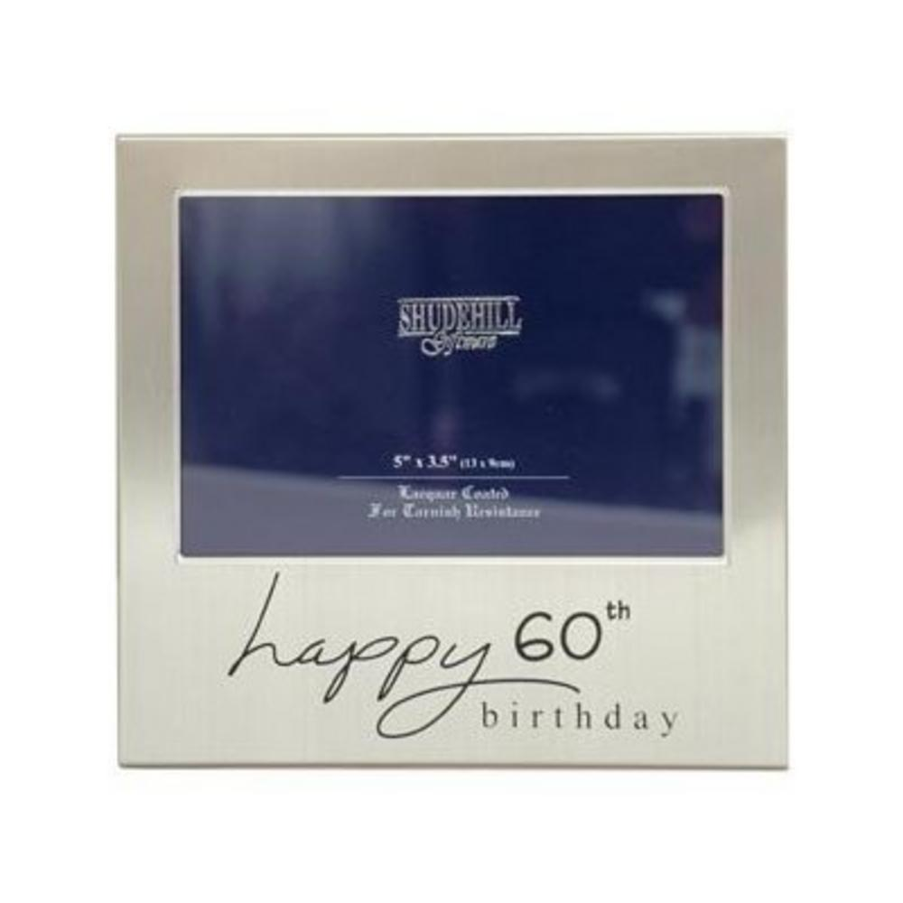 "Shudehill Giftware Happy 60Th Birthday Picture Photo Frame - 5"" X 3.5"" Gift"