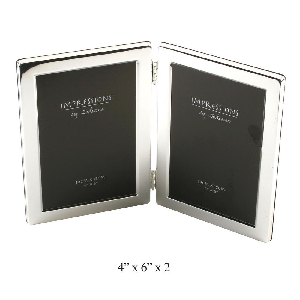 "Juliana Silver Plated Double Sided Gift Picture Photo Frame 4"" X 6"""