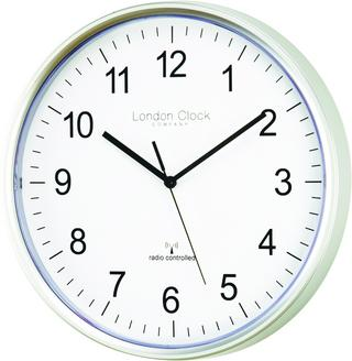 London Clock Company Radio Controlled Msf Atomic Modern Simple Wall Clock Thumbnail 1
