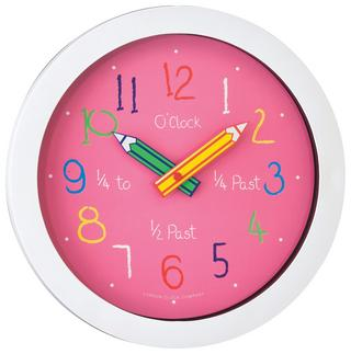 London Clock Company Childrens Learn Colour And Time Educational Wall Clock Thumbnail 1