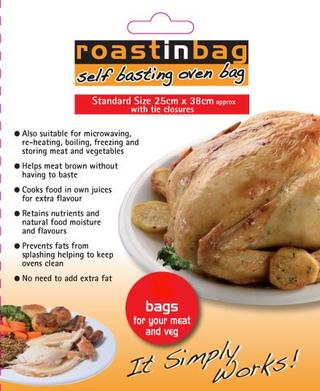 Roastabags - 8 Standard Roasting Self Basting Oven Bags 25 X 38 Cm Thumbnail 1