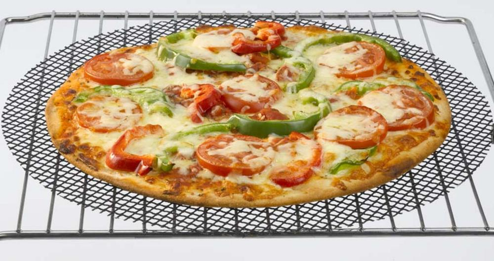 Cookamesh 32Cm Black Pizza Mesh Oven Sheet Tray- Perfect For Crispy Bases