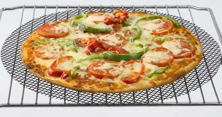 Cookamesh 32Cm Black Pizza Mesh Oven Sheet Tray- Perfect For Crispy Bases Thumbnail 1