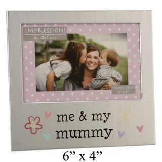 "Juliana Me And My Mummy Aluminium Picture Photo Frame 6"" X 4"" Thumbnail 1"