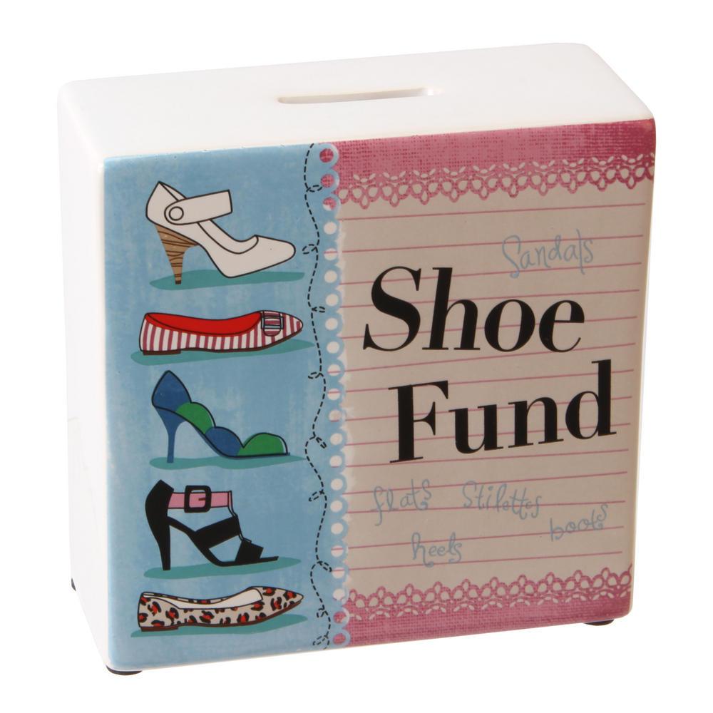 Juliana Sentiment Ceramic Money Bank Box - Shoe Fund W140 X H140 X D60