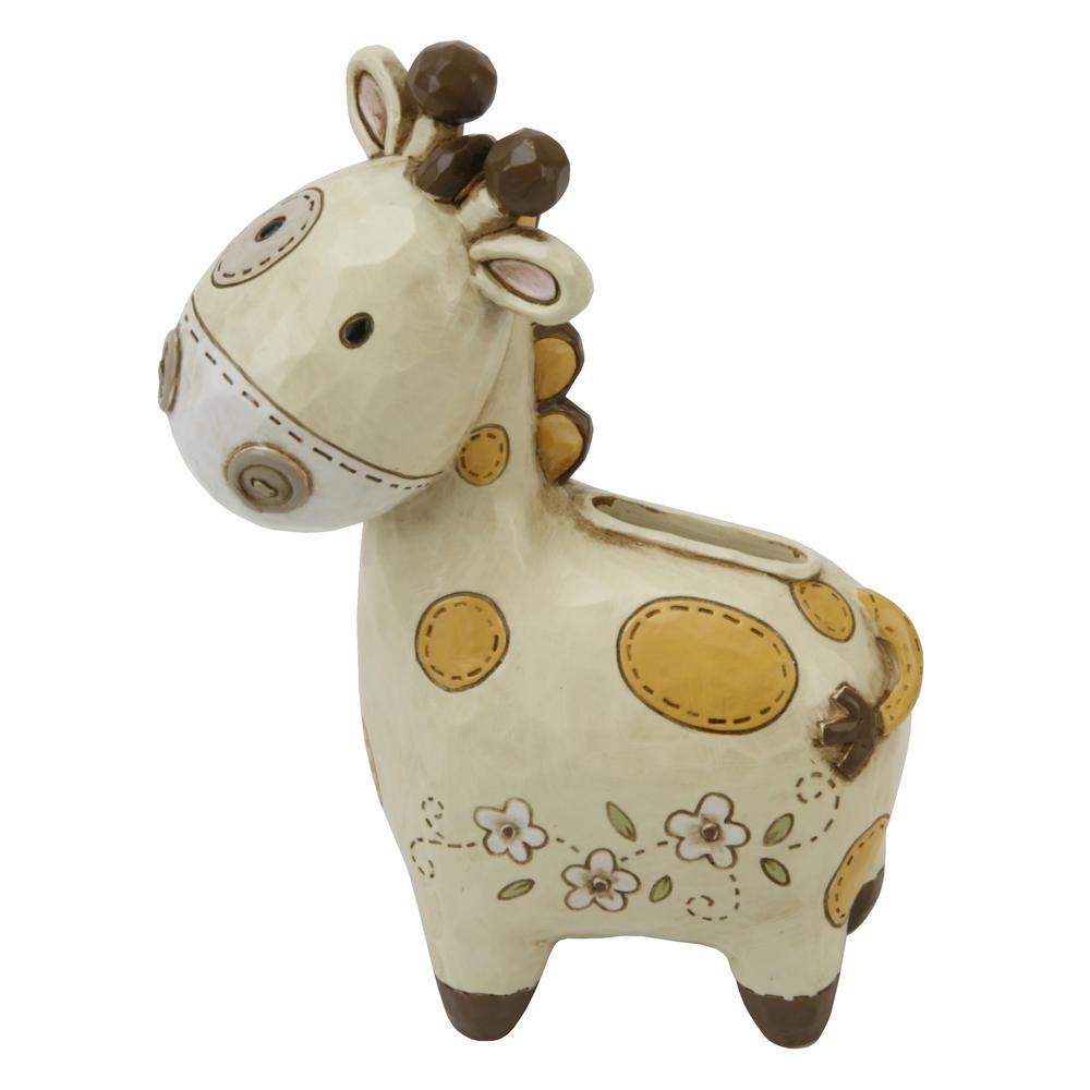 Juliana Baby Noah'S Ark Resin Money Box - Giraffe Baby Gift Boxed