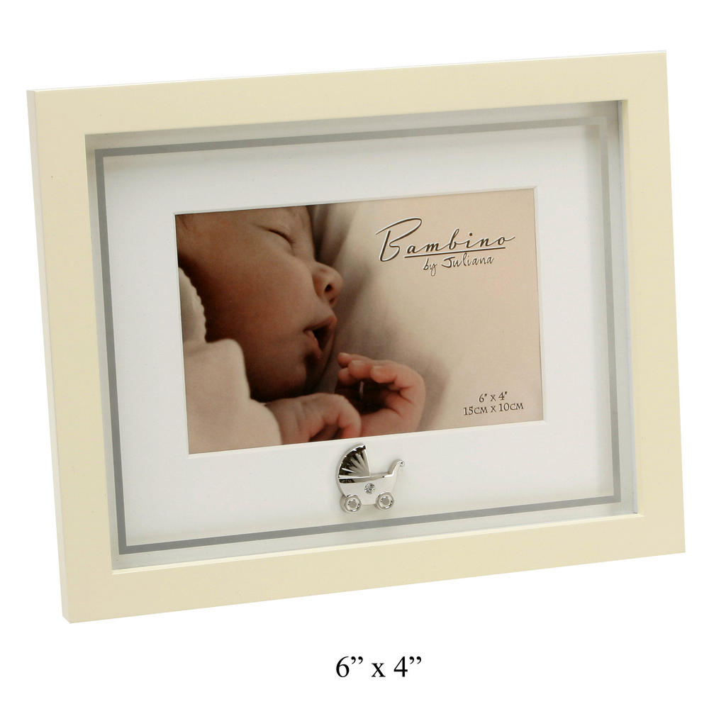 "Bambino By Juliana Mdf Picture Photo Frame Mirror Print  Pram Icon 6"" X 4"" Gift"