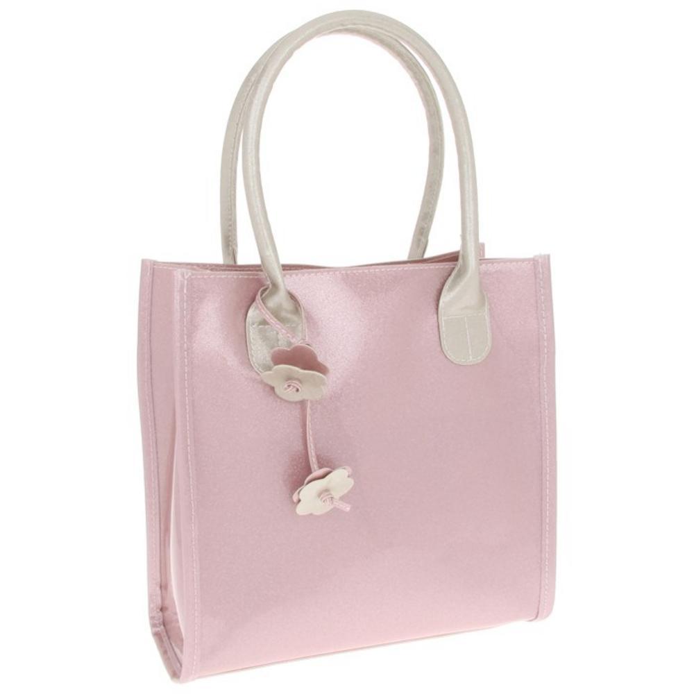 Ladies Equilibrium Pink Glitter Hangbag