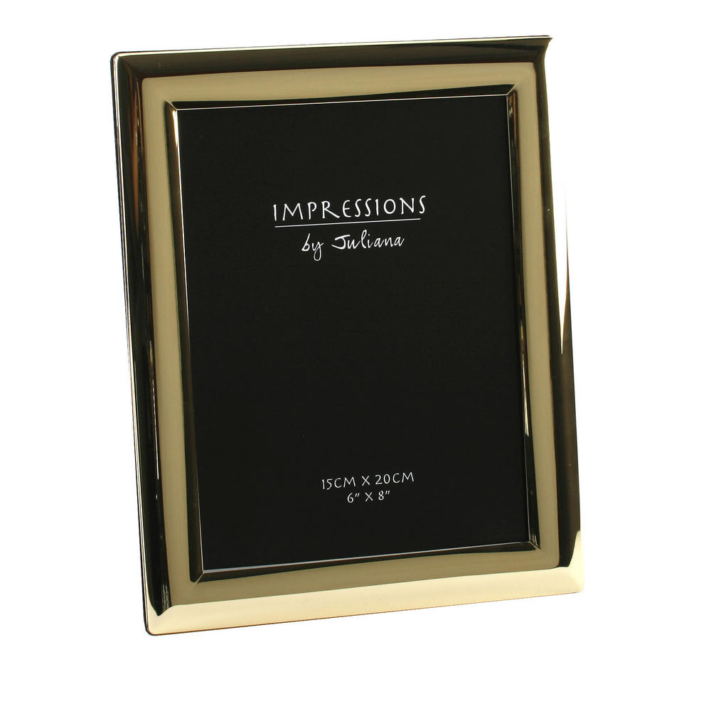 """Juliana Brass Plated Curved Edge Picture Photo Frame - 6"""" X 8"""""""