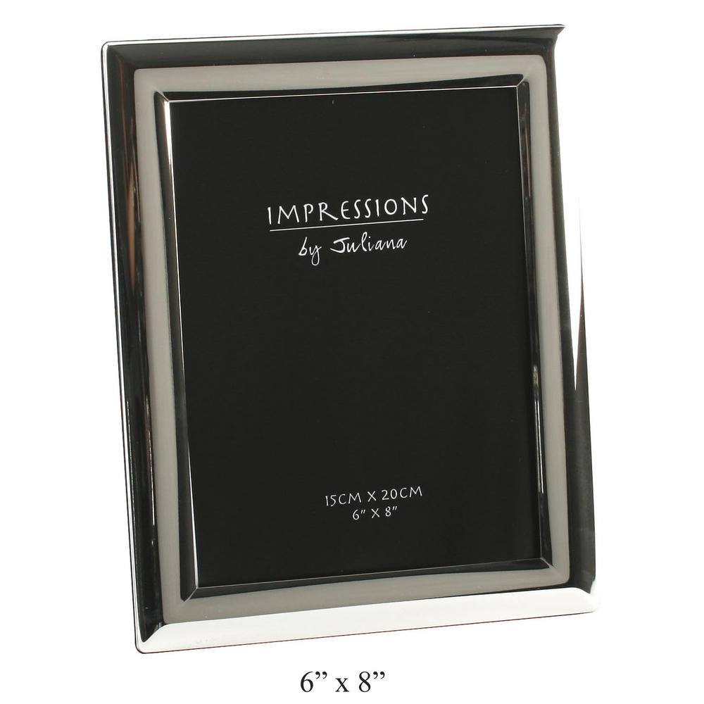 """Juliana Silver Plated Curved Edge Picture Photo Frame - 6"""" X 8"""""""