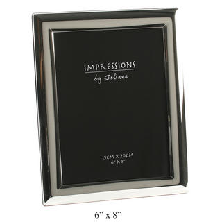 """Juliana Silver Plated Curved Edge Picture Photo Frame - 6"""" X 8"""" Thumbnail 1"""