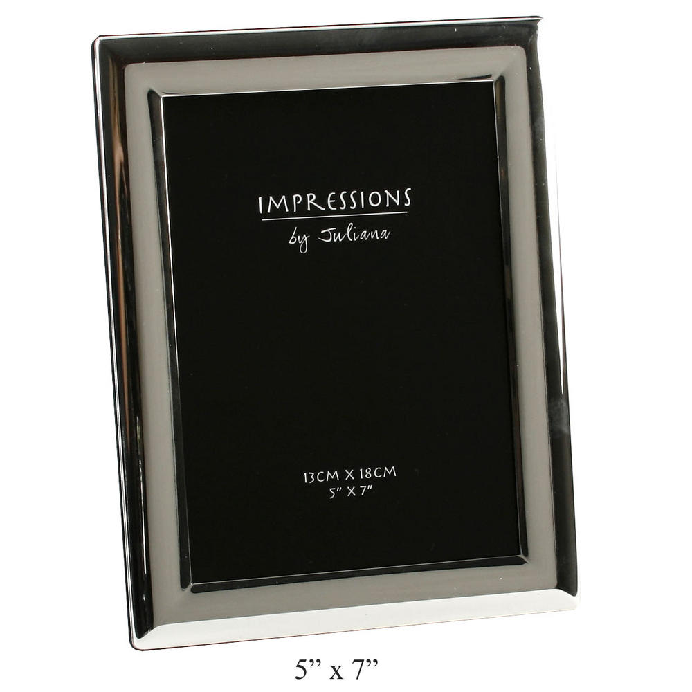"""Juliana Silver Plated Curved Edge Picture Photo Frame - 5"""" X 7"""""""