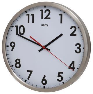 Unity Gairn Silent Sweep Non-Ticking 30Cm Contemporary White Dial Wall Clock Thumbnail 1