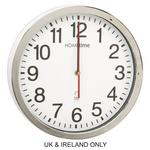 "Hometime Worksop Msf Radio Controlled White & Silver 12"" Wall Clock 30Cm"