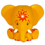 Etana 13Cm Yellow Elephant Elebank Money Box By Pink Chillies