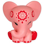 Aditi 13Cm Pink Elephant Elebank Money Box By Pink Chillies