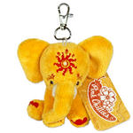 Etana Plush 10Cm Yellow Elephant Bag Clip Or Keyring By Pink Chillies
