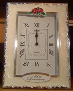 Shudehill Giftware 40Th Ruby Wedding Anniversary Celebration Quartz Clock