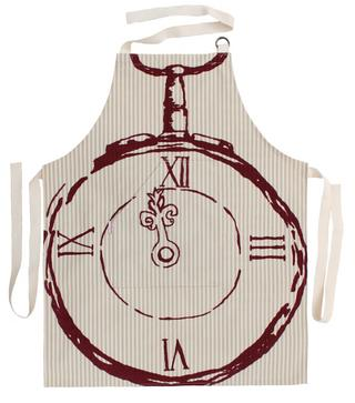 Becky Broome Pocket Watch Apron Beige & Red Thumbnail 1