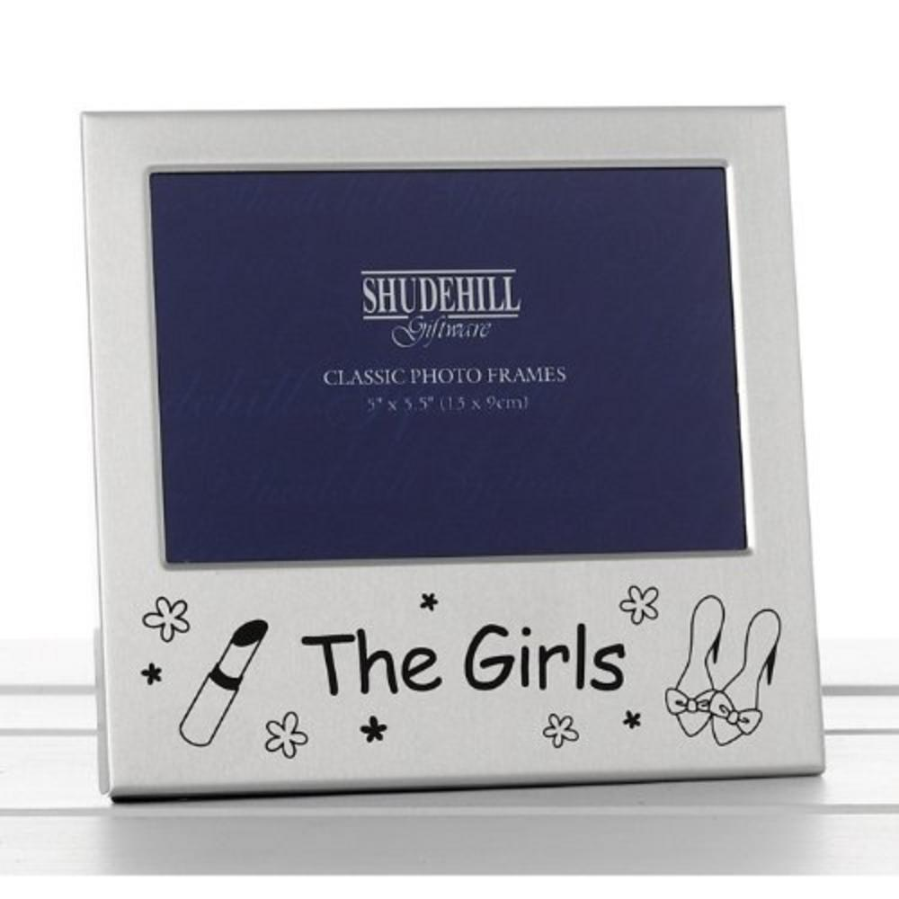 """The Girls Satin Silver Picture Photo Frame 5"""" X 3.5"""" Gift"""