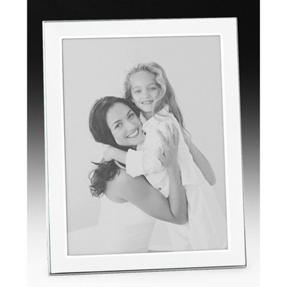 "Shudehill Quality Satin White Plain Picture Photo Frame - 2"" X 3"" - Great Gift"