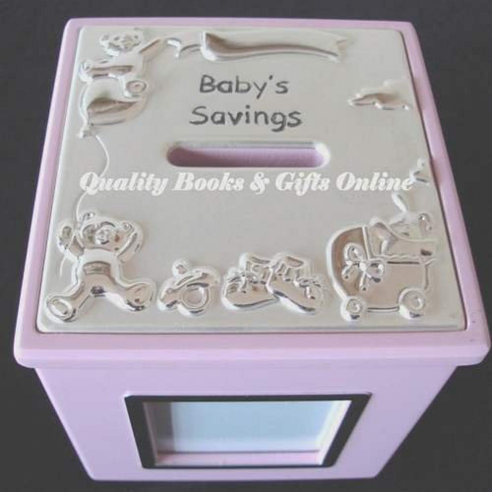 Baby Girl Frame Money Box